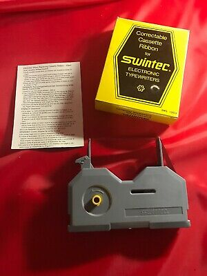 Cassette Ribbon Swintec Correctable For Electronic Typewriters Brow Or Blue Nos