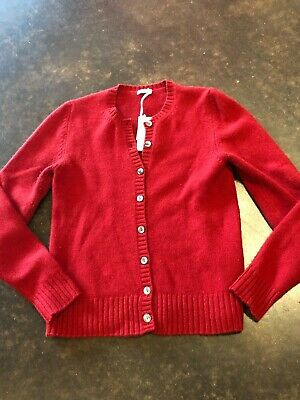 Malo red 4-5 ply cashmere cardigan 40 0-6