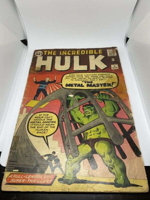 the INCREDIBLE HULK #6 1ST APPEARANCE OF THE TEEN BRIGADE & Metal Master
