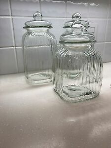 Clear Glass Canisters Jars with lids London Ontario image 4