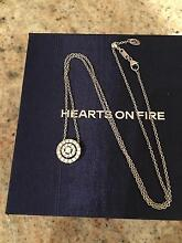 HEARTS ON FIRE DIAMOND NECKLACE IN 18K WHITE GOLD:COST$4085! Glen Waverley Monash Area Preview