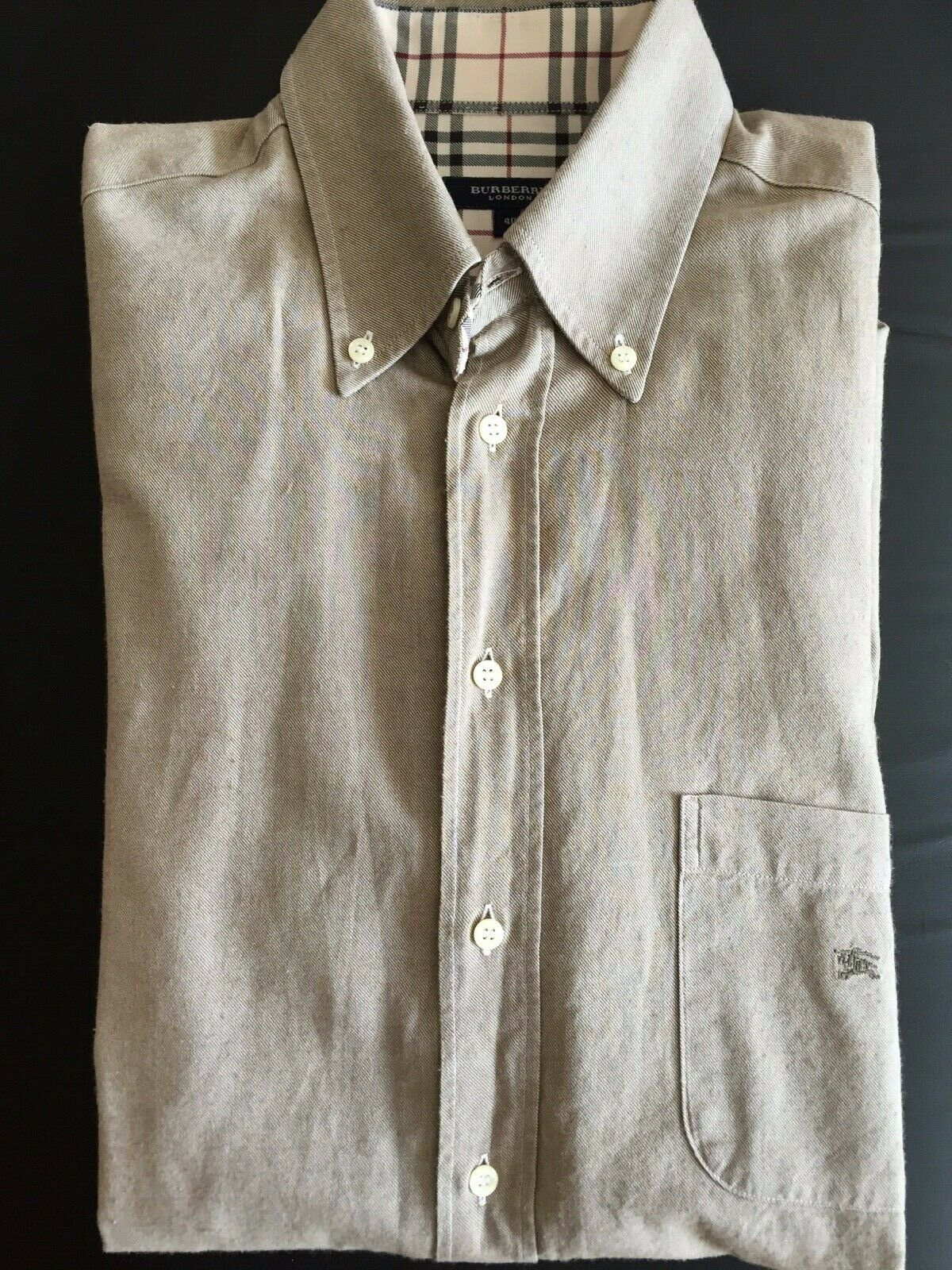 Chemise burberry homme beige taille 40 manches longues