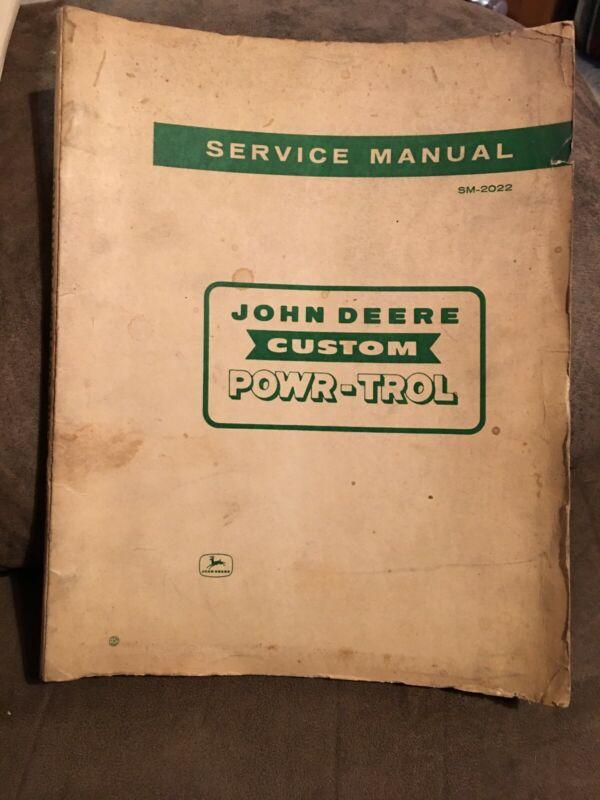 John Deere Custom Powr-Trol Service Manual - SM-2022