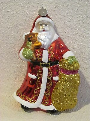 Christopher Radko Glass Ornament Santa Christmas 25th Anniversary 2010