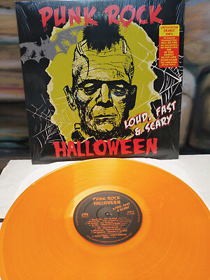 PUNK ROCK HALLOWEEN Loud Fast & Scary LP UK Subs 999 ANL Dwarves Adolescents JFA - Halloween Punk Rock Music