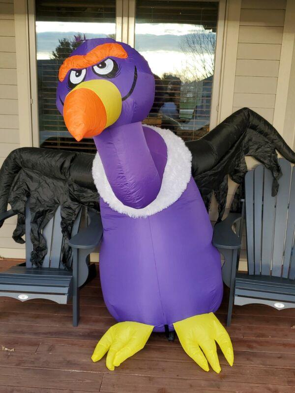 5ft Gemmy Airblown Inflatable Prototype Halloween Purple Vulture #73355