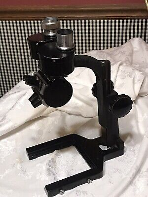 Vintage Bausch Lomb Microscope Stereo Circa 1929 As Is