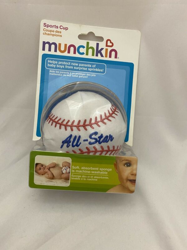 Munchkin Diaper Change Sports Cup All-Star Baseball Baby NEW on CARD