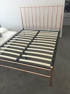 Rose gold bed frame Ryde Ryde Area Preview