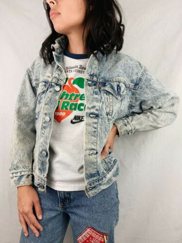 Vintage 80s Levi's Light Acid Wash Denim Jacket Women's S