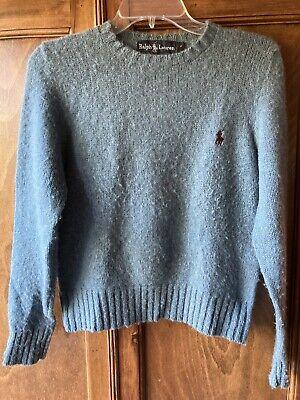 80s Sweatshirts, Sweaters, Vests | Women Vintage 1980's Polo Ralph Lauren Blue Shetland Wool Crewneck Pullover Sweater $17.50 AT vintagedancer.com