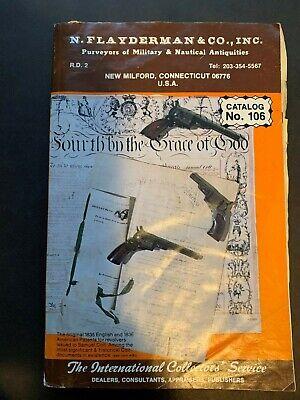 N. FLAYDERMAN AND CO. CATALOG 106 PURVEYORS MILITARY AND NAUTICAL - Co Catalog
