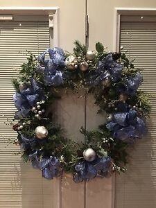 Large indoor/outdoor Christmas wreath