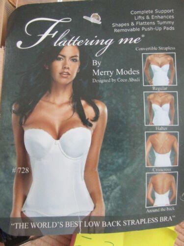 Strapless,Backless Bra-Flatter Me- white - Flatter Me by Merry Modes-multi sizes