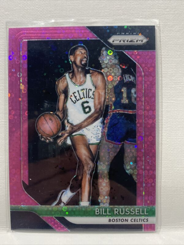 BILL RUSSELL #40 HALL OF FAME TOP 50 1996-97 TOPPS FINEST ROOKIE CARD REPRINT