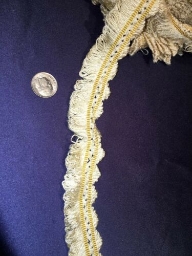 Antique Off White Silk Fringed Trim Never Used
