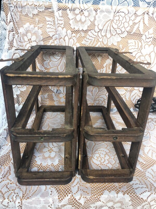 Singer Sewing Machine  Cabinet Drawer Frames W/ Screws -Treadle Cabinet Parts