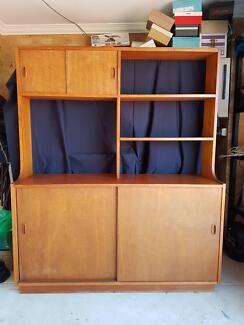 Solid shelves and cupboard