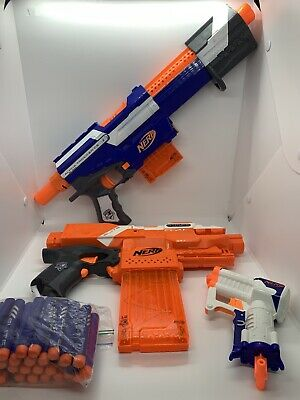 Nerf Dart Guns Motorized N Strike Elite Stryfe + Alpha Trooper C-12 + Triad Ex-3