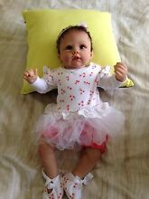 Reborn doll Olivia with stroller and clothes Grovedale Geelong City Preview