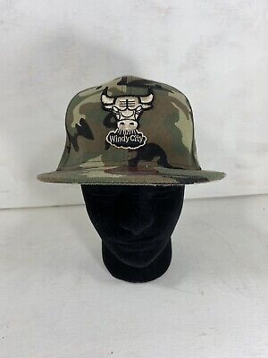 New Era 9Fifty Chicago Bulls Snap Back Windy City Hat Cap Camo