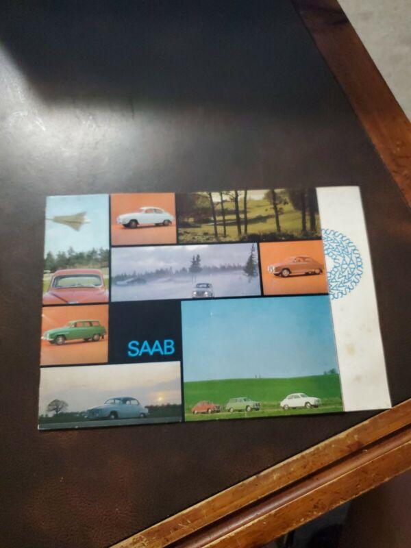 Vintage 1965 (?) SAAB Dealership Sales Brochure