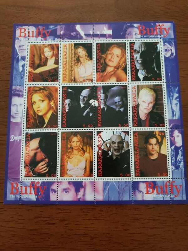 RARE Buffy The Vampire Slayer Collectible Stamps 12 stamps, 11 pictures