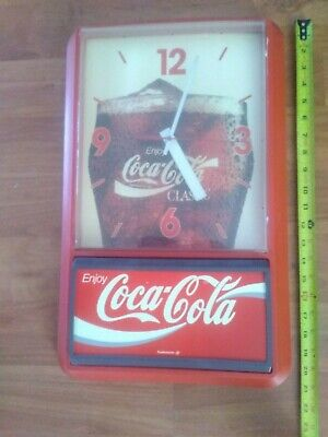VINTAGE Coke Coca Cola Advertising Clock for Parts Repair