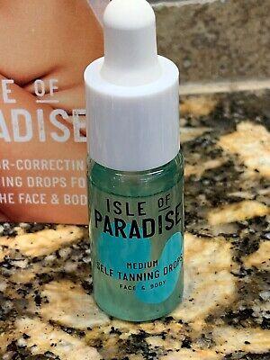 Isle of Paradise Self-Tanning Drops MEDIUM Golden Glow Travel size .14 oz NEW