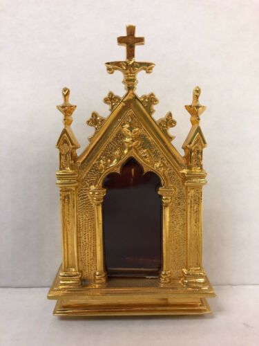 + Gold Plated Reliquary For Your Relic + (#7G) Church + Saint + chalice co.