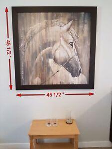 Cadre et toile Grande Dimension (Cheval)
