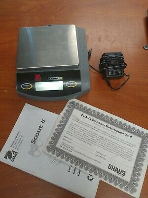 Ohaus Scout Ii Portable Scale Sca210 200g Includes Manual Adapter Parts Only