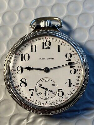 Hamilton 956 Pocket Watch, Montgomery Dial, Gold Filled Case
