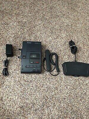 Sony M-2020 Desktop Cassette Transcriber Recorder W Adapter Foot Pedal Mic