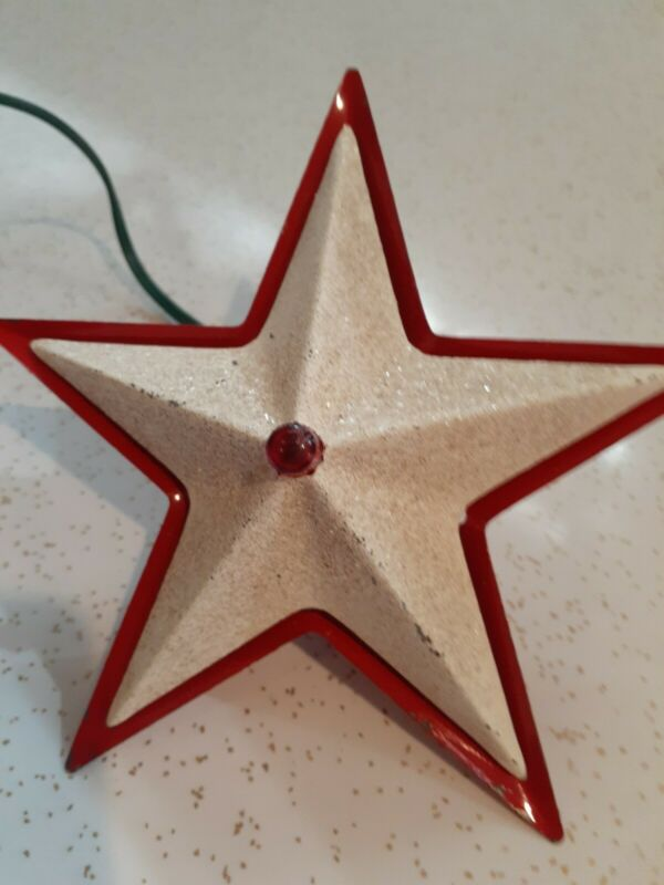 VINTAGE CHRISTMAS STAR RETRO METAL COLLECTABLE RARE FIND