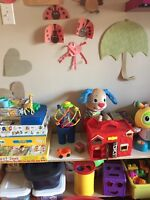 Daycare spaces available