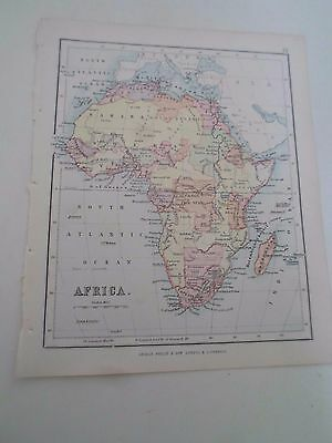 Antique Map 1890 - AFRICA - From Philips Atlas For Beginners  §23