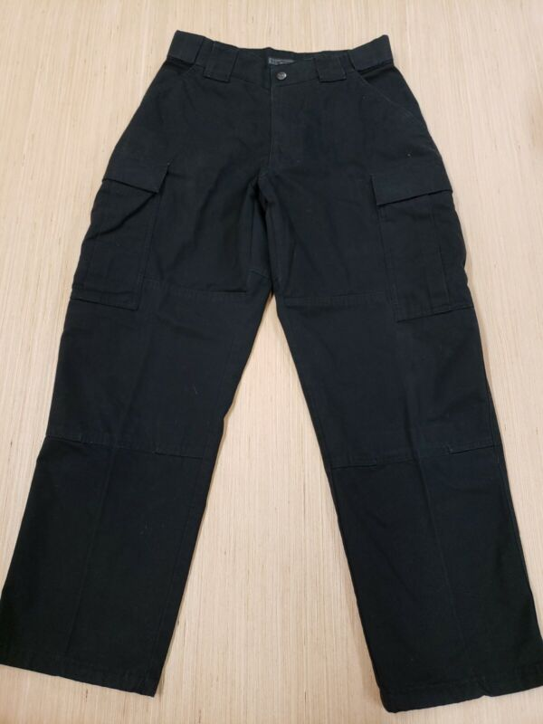 #407 511 5.11 Tactical Series Black Cargo Pants Police Fire Medium Short