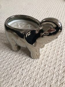 Silver Elephant Candle