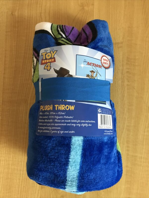 "Toy Story 4 Throw Blanket 46"" x 60"" Blue"