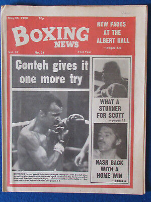 Boxing News Magazine   30 5 80   John Conteh Cover