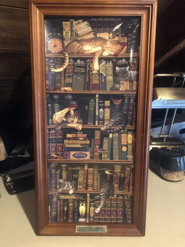Charles Wysocki, Classic Tails Collector Plates With Wooden Frame