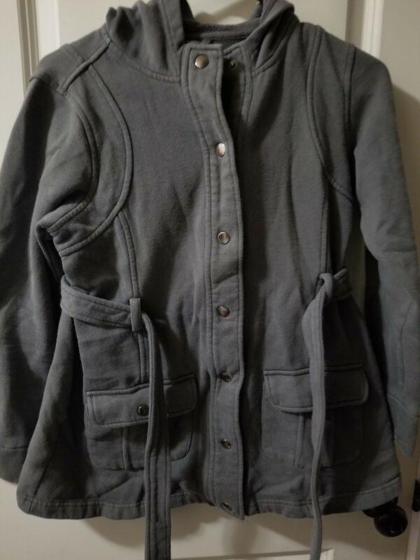 Motherhood Maternity Gray Blend hooded Coat/ Jacket Size M
