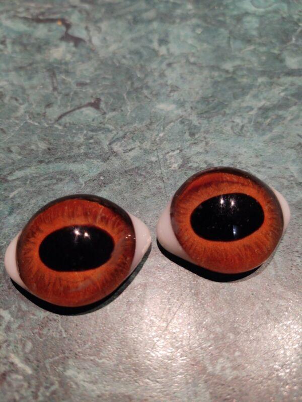 "Vintage 1 1/2"" Glass Eyes Used In Taxidermy"