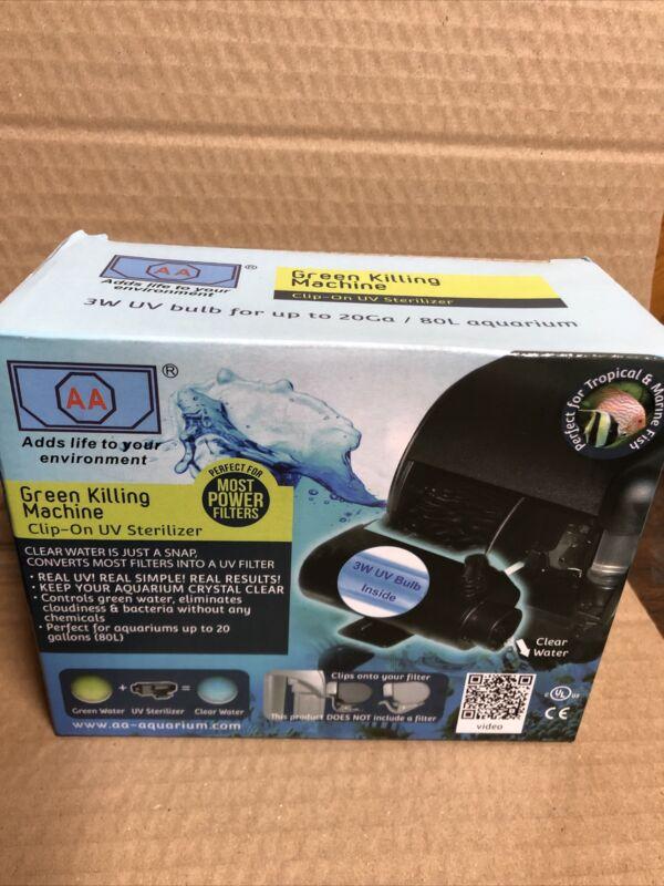 AA Aquarium AAUV3WR Green Killing Machine Clip-On UV Filter New