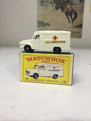 MATCHBOX LESNEY #14 LOMAS AMBULANCE BOXED