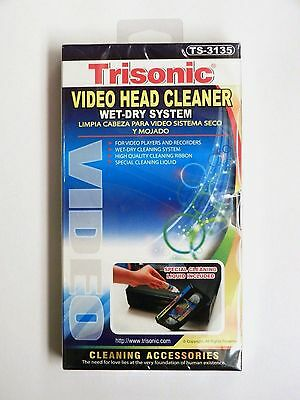 VHS VCR Video Head Cleaner Wet Dry for Video Players and Recorders