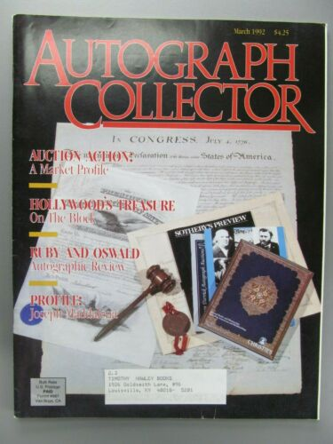 Autograph Collector, Vol. 1, No. 1, March, 1992