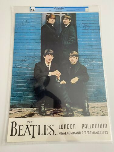 1964 The Beatles at London Palladium Concert Poster - CGC 9.6 Low Pop