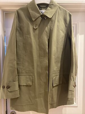 Margaret Howell Mackintosh Jacket Khaki Green Size 10 Would Fit 12 Also